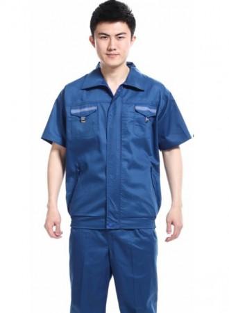 Bộ quần áo công nhân xanh phối 001
