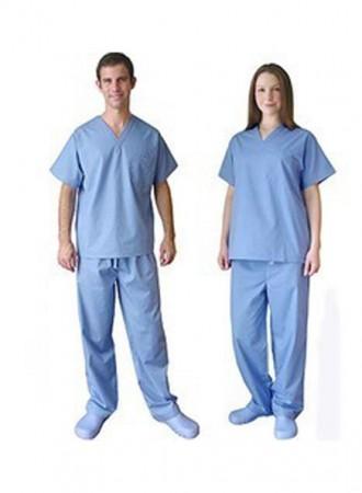 Đồng phục y tá bệnh viện cổ V nam nữ 02