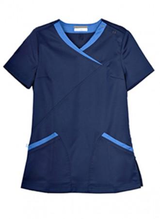 Đồng phục y tá bệnh viện cổ V chéo 03