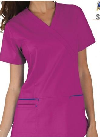Đồng phục y tá bệnh viện nữ cổ chéo 09