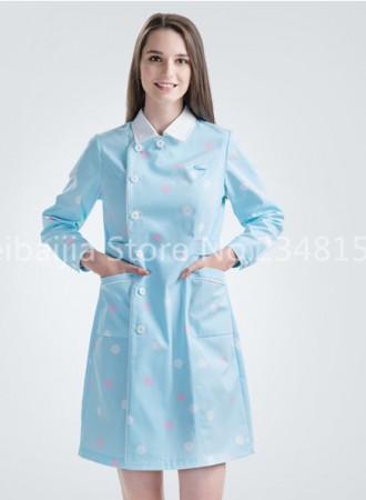 Đồng phục y tá bệnh viện váy nữ chấm bi 11