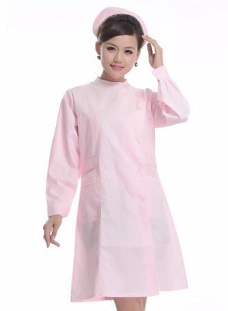 Đồng phục y tá váy dài tay cổ tàu 17