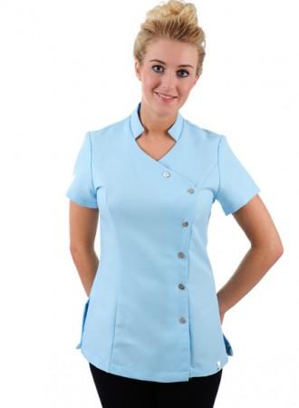 Đồng phục y tá áo cổ tàu ngắn tay 21