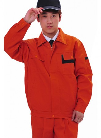 Bộ bảo hộ công nhân màu cam 04