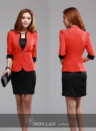 Đồng phục vest nữ 08