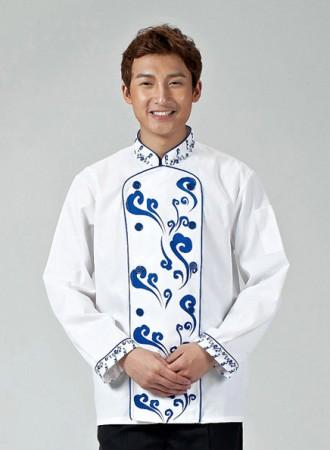 Áo bếp trắng có họa tiết 10