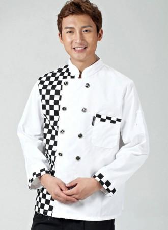 Áo bếp trắng có họa tiết 11