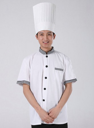 Áo bếp trắng 07