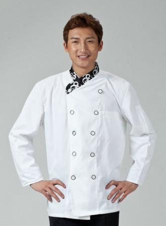 Áo bếp trắng 16