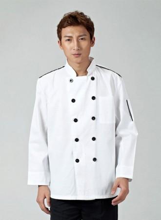 Áo bếp trắng 18