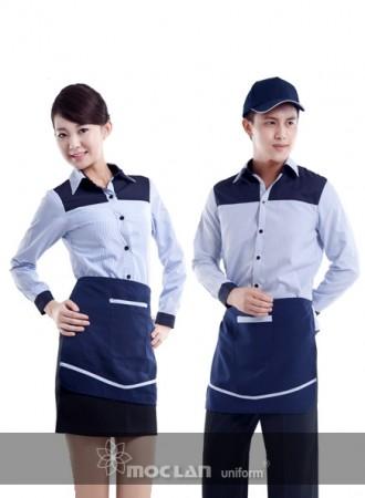 Đồng phục phục vụ kẻ tím than 10