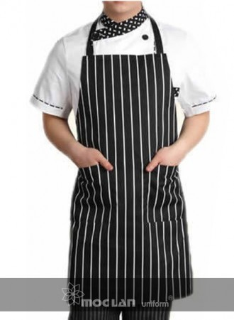 Đồng phục bếp, tạp dề bếp kẻ 02
